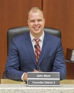 Clark County Councilor John Blom, shown here in this file photo, is one of two councilors who are in favor of a public meeting to discuss Clark County's ban on marijuana businesses. Councilor Julie Olson shares Blom's position on the issue. Photo by Mike Schultz