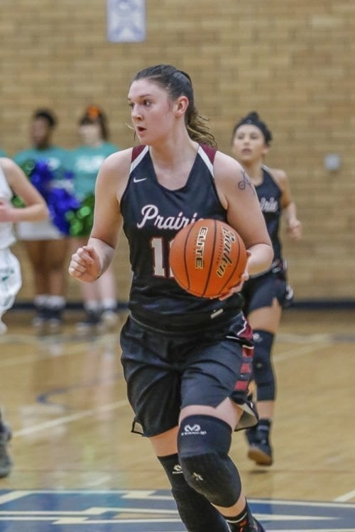 Prairie junior Brooke Walling was voted first team all state for Class 3A girls basketball by media members throughout Washington. Photo by Mike Schultz