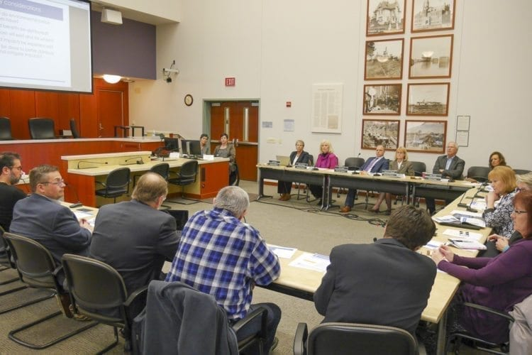 Clark County elected officials hear from ODOT at a Value Pricing work session. Photo by Chris Brown