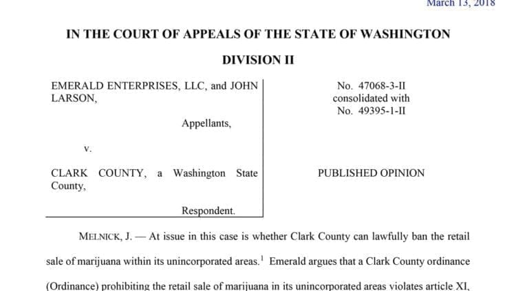 Unincorporated Clark County's only marijuana shop loses Appeals Court case, will continue to operate in violation of moratorium.