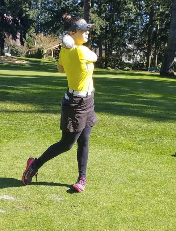 Prairie golfer Delainey Patterson always tries to keep an eye on the positives … in the game and in life. Photo by Paul Valencia