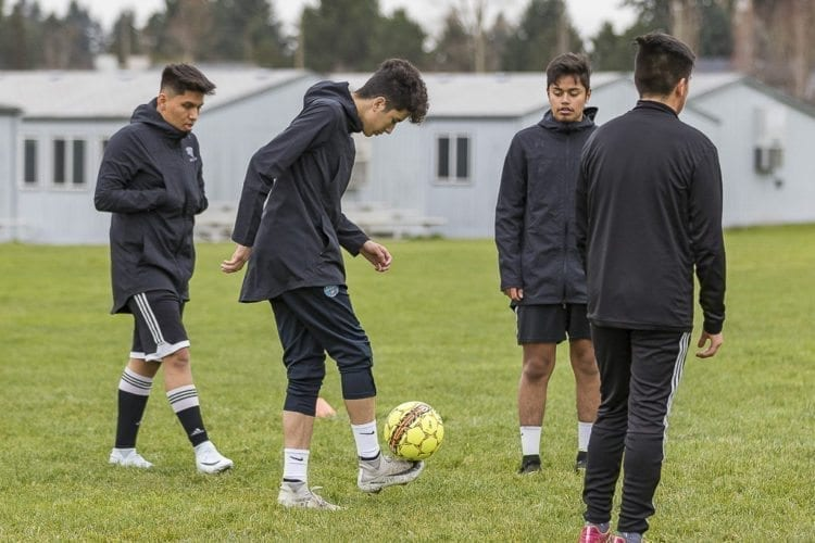 Heritage's Julian Bojorquez said he has played soccer for as long as he can remember. If he did not have a ball, he would kick potatoes. Photo by Mike Schultz