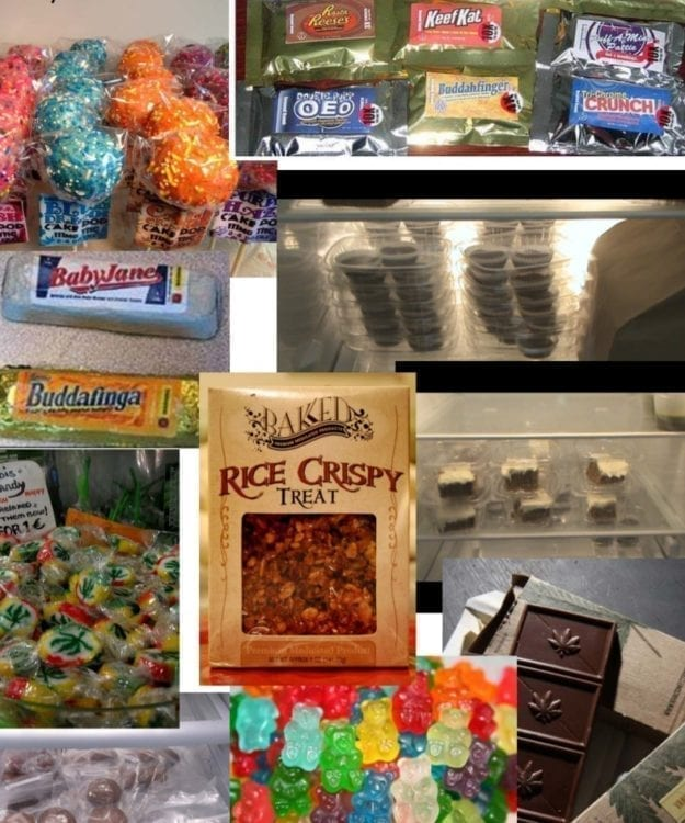 Officials show pot edibles seized locally that they are concerned might be attractive to children. Photo courtesy Clark County Sheriff's Office