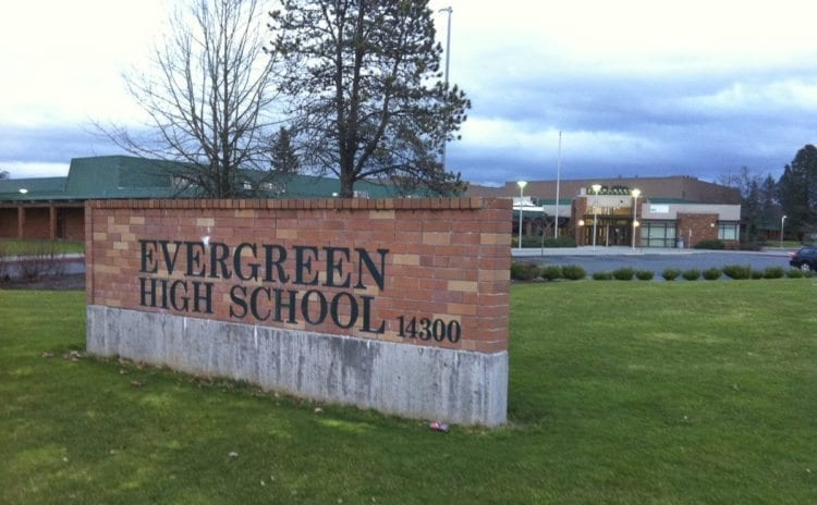 Evergreen High School expects to see students walk out on Wednesday. Photo from Evergreen Schools Facebook page