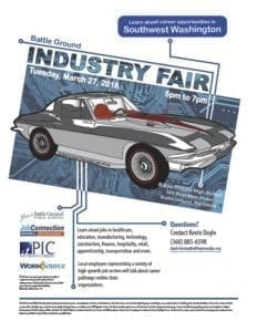 The Battle Ground Industry Fair is March 27. Flyer courtesy of Battle Ground School District