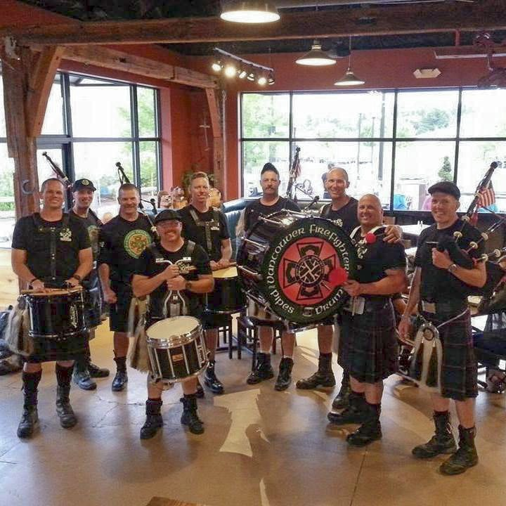The Vancouver Firefighter Pipe & Drums and Fort Vancouver Pipe Band will entertain locally on St. Patrick's Day, Fri., March 16. Photo courtesy of Mill Creek Pub