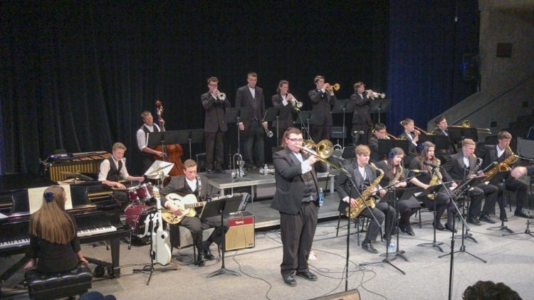 The Hockinson High School Jazz Band is shown here competing at the Columbia Basin College Band Festival. Photo courtesy of Hockinson School District
