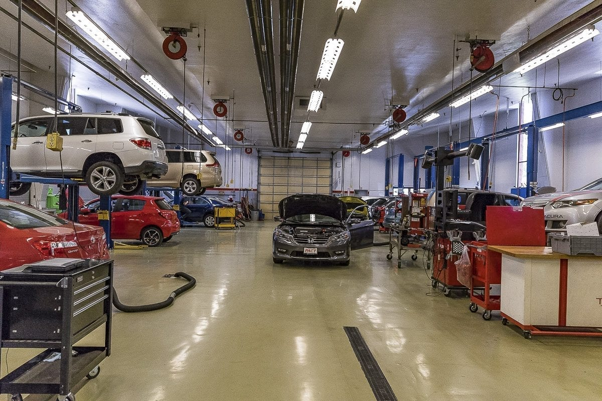 The Automotive Technician program at Clark College's main campus. Photo by Mike Schultz