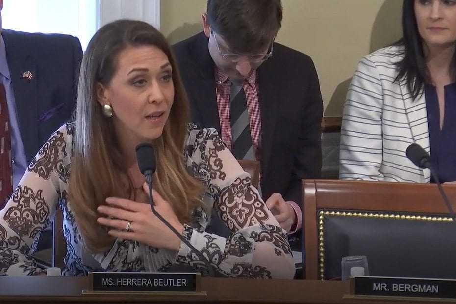 U.S. Rep. Jaime Herrera Beutler, R-Battle Ground, testifies before the U.S. House Natural Resources' Indian Affairs Subcommittee on Thursday in Washington, D.C. Photo provided by the office of Congresswoman Jaime Herrera Beutler