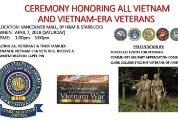 Vietnam and Vietnam Era veterans to be celebrated Saturday at Vancouver Mall