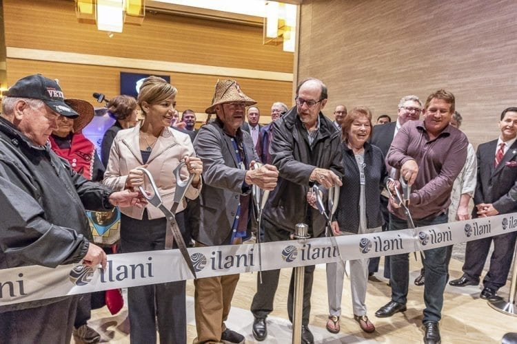The ceremonial ribbon cutting Thursday marked the opening of the new Meeting and Entertainment Center at ilani Casino Resort. Photo by Mike Schultz