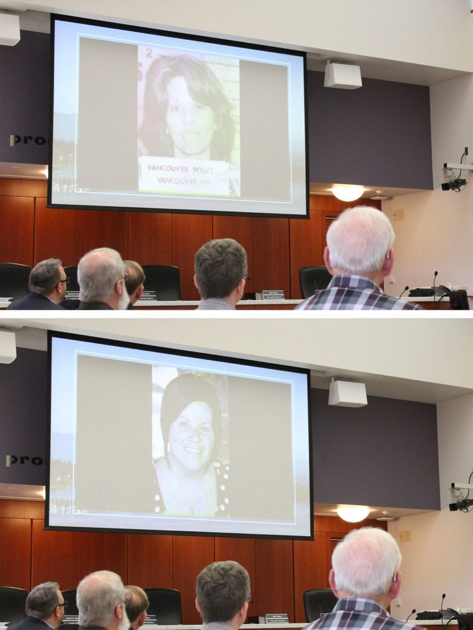The opening of the meeting was highlighted by a video showing before and after photographs of former inmates at the Clark County Jail who went on to lead productive, healthy lives. Photos by Eric Schwartz