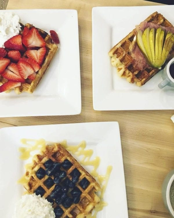 Syrup Trap owner Joey Grimaldi fell in love with liége waffles while traveling in Europe and now he serves them at his Vancouver restaurant. Photo courtesy of Brooke Strickland