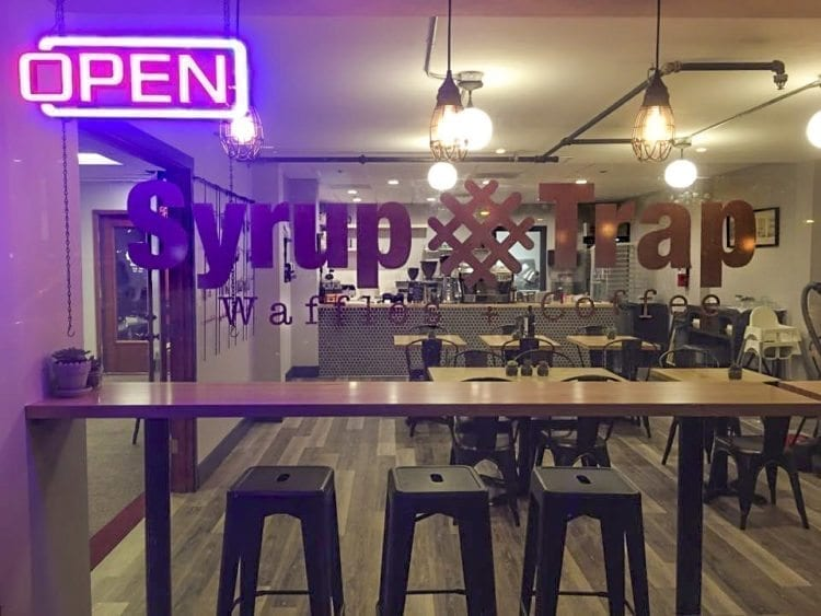 Since its opening on International Waffle Day on March 25, Syrup Trap has made its home in the heart of downtown Vancouver. Photo courtesy of Brooke Strickland