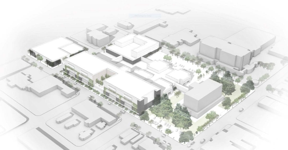 This rendering was developed by consultants to show what the Clark County Jail could look like if voters approved the preferred master plan development by consultants.The price tag is estimated between $268 million and $284 million, and the plan would result in a facility with 1,028 beds. Photo courtesy of Clark County