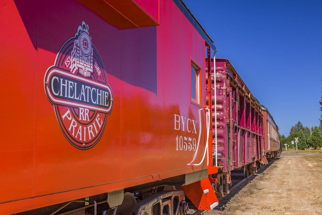The Chelatchie Prairie Railroad, located in Yacolt, has had a long history in the north Clark County area. Each year, the train hosts several different themed train rides, including a Mother's Day Train Ride. Photo by Mike Schultz