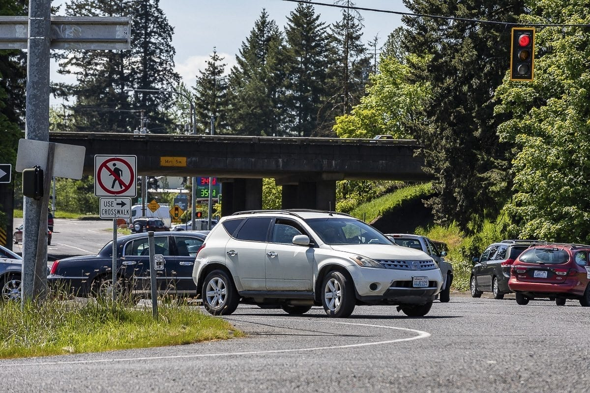 The 179th Street Interchange along I-5 was built in the 1960's and is seen as inadequate for future growth expected in the area. Photo by Mike Schultz