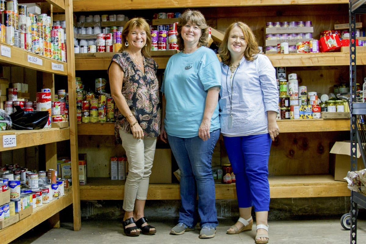 Thanks to partnerships, donations, and volunteers, the Woodland Public Schools Food Pantry Program has provided nearly 5,000 food and necessity items to families-in-need since the program's inception in February 2017. Photo courtesy of Woodland Public Schools