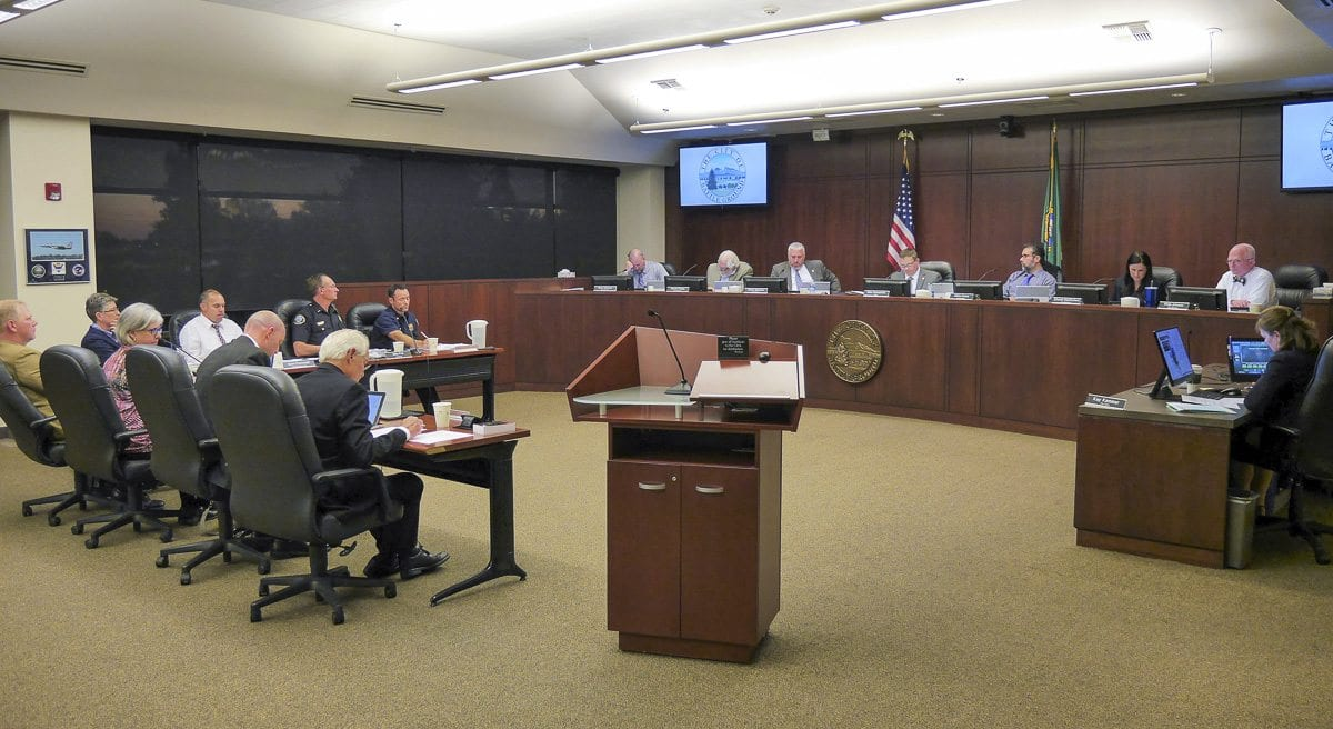 Members of the Battle Ground City Council voted 4-3 Monday night to adopt new rules around fireworks in the city starting next year. Photo by Chris Brown