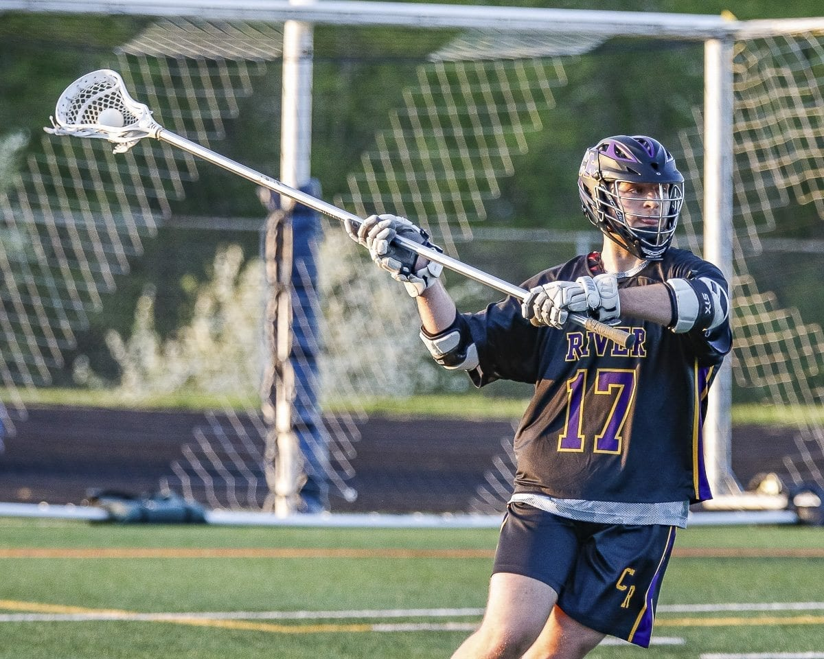 Chase Barnett of Columbia River lacrosse said the sport helped shape him to becoming the person he is today. He plans on playing lacrosse at Grand Canyon University. Photo by Mike Schultz