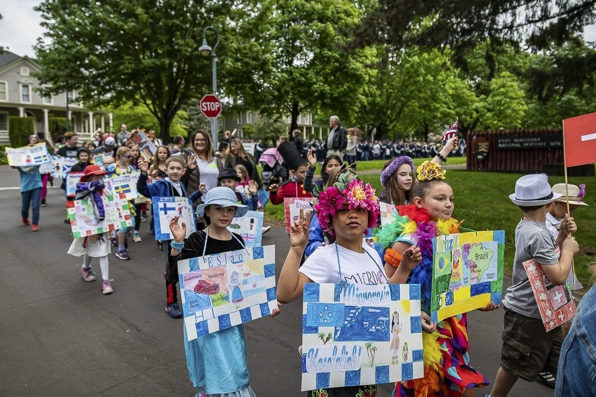 Dozens of children celebrated cultures from across the globe in the annual Children's Cultural Parade last week.