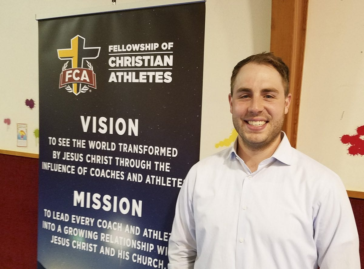 Paris Shewey was introduced last week as the area director for the Clark County chapter of Fellowship of Christian Athletes. It is the first time in years that FCA has officially been part of the county. Photo by Paul Valencia