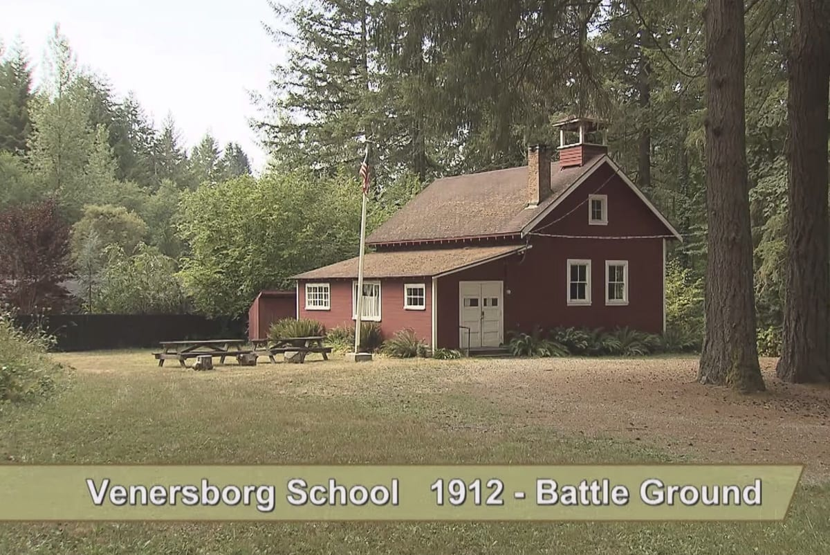 Venersborg School is seen in this image from a video available at www.clark.wa.gov/community-planning/historic-preservation. Image provided by the Clark County Historic Preservation Commission