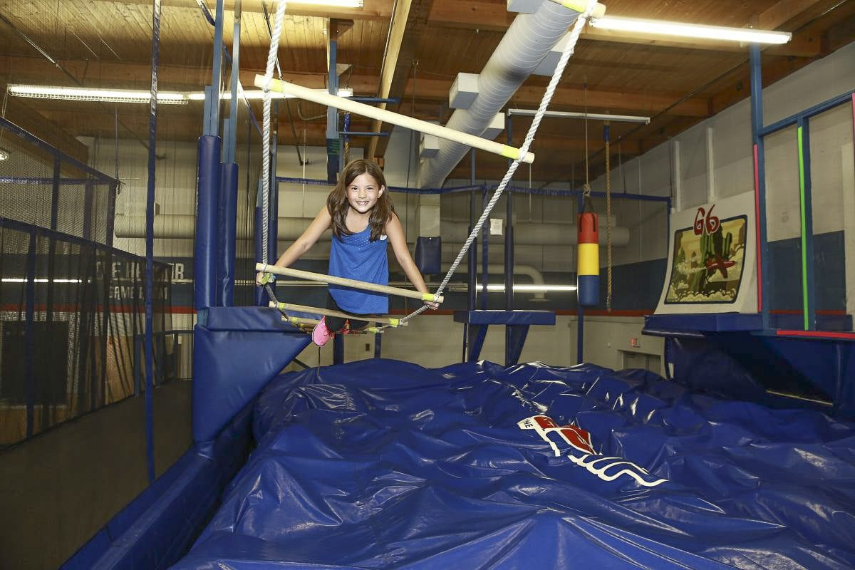Children play on the ninja course at the G6 Airpark in Portland, which is closing June 16. Photo courtesy g6airpark.com