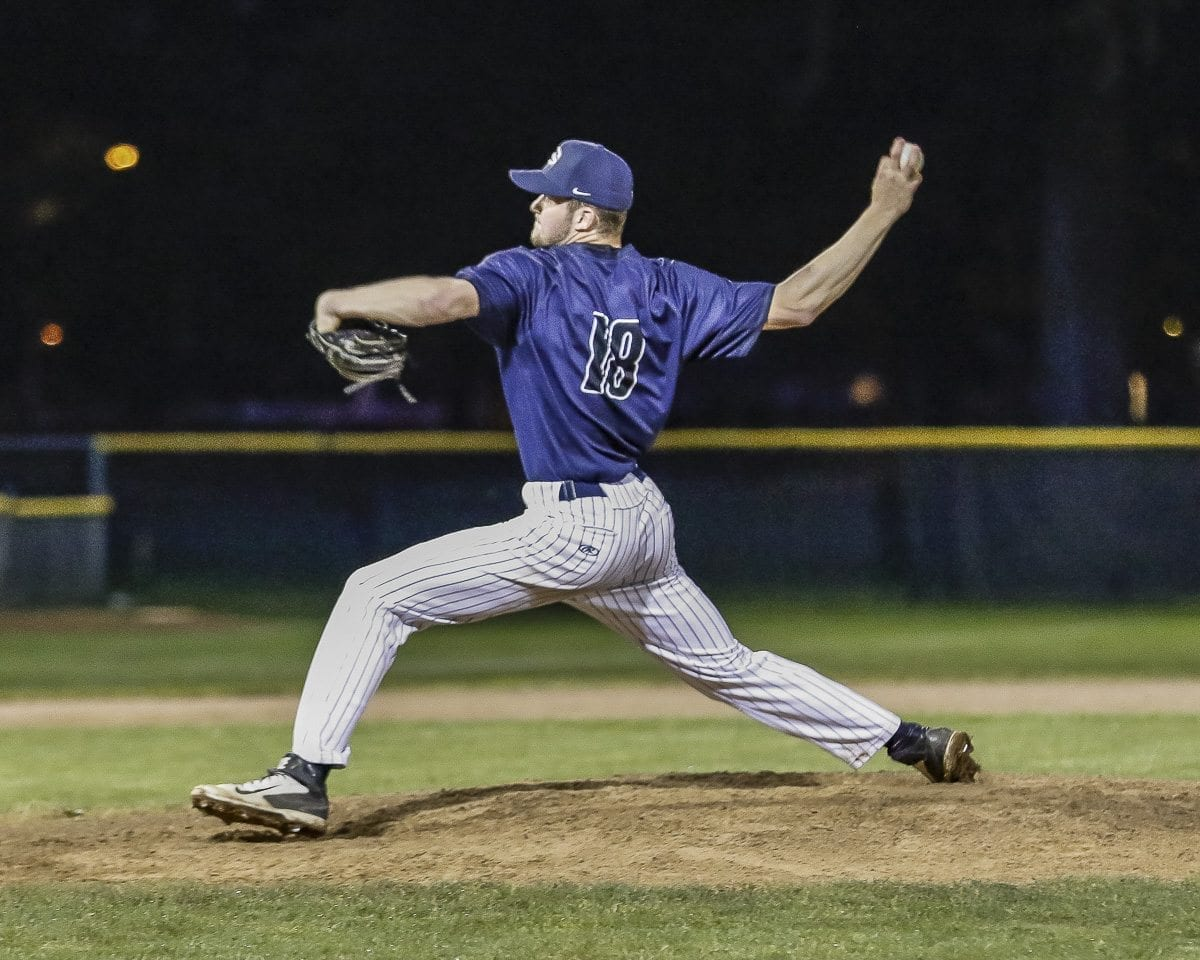 Daniel Copeland, shown here Tuesday in a relief appearance, got the start Wednesday and helped Skyview keep its season alive. The Storm beat Sumner 6-2 in an elimination game and now has two games to win one in order to advance to state. Photo by Mike Schultz