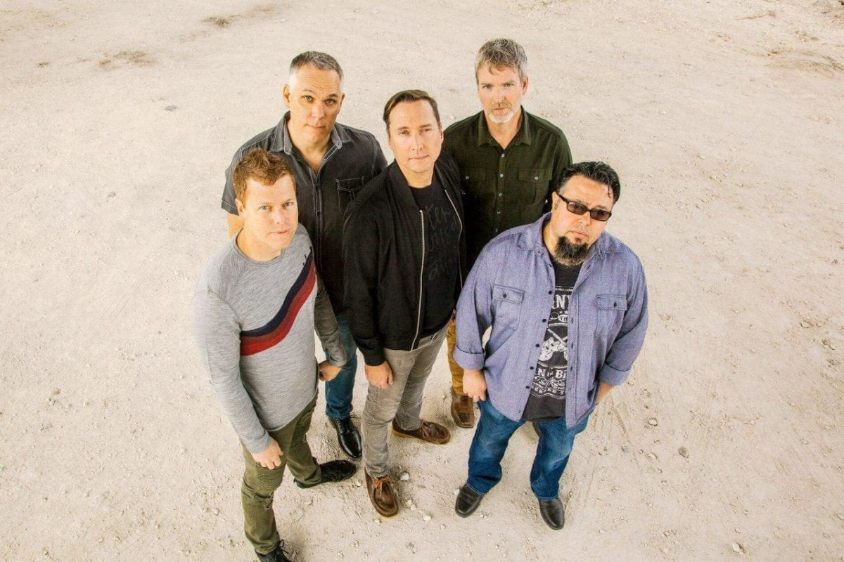 Smalltown Poets: Michael Johnston - Vocals, Danny Stephens - Keyboard, Byron Goggin - Drums, Kevin Breuner - Guitars, Miguel DeJesus - Bass Guitar. Photo courtesy Smalltown Poets and Friendly City Records