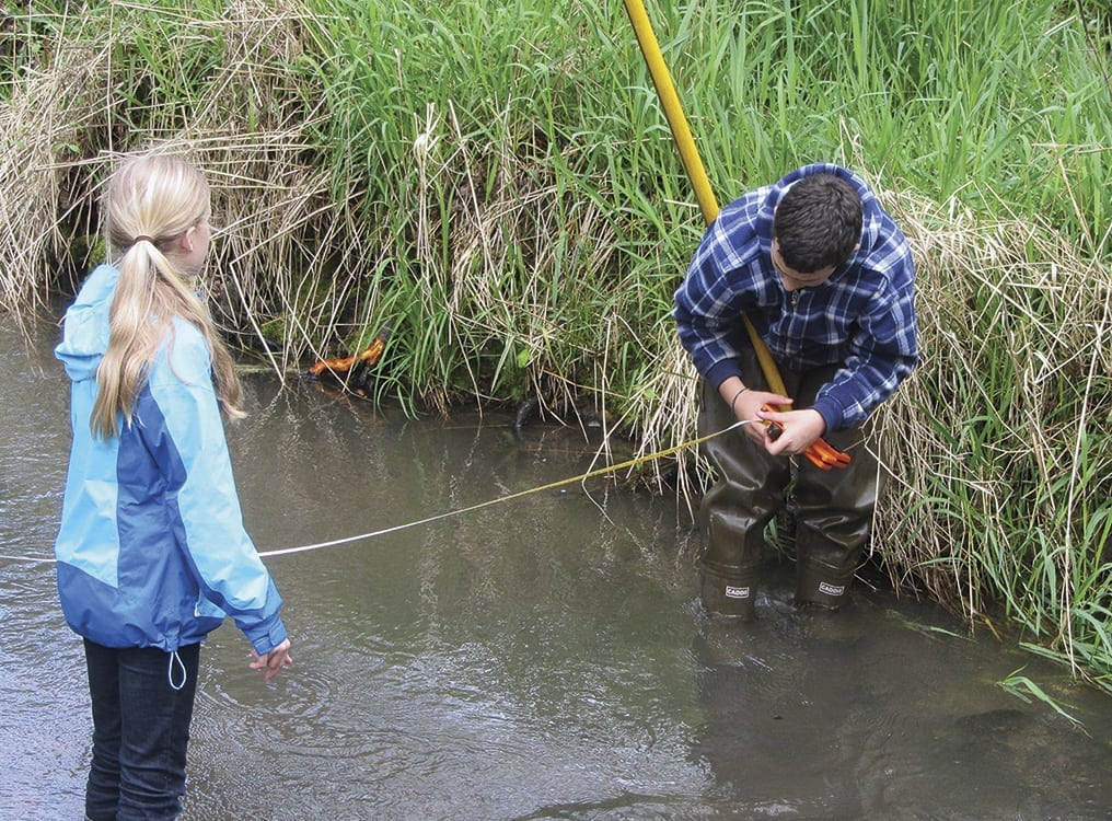 Over the past 20 years, a total of about 48,000 students from Clark County schools have collected data that give a snapshot of water health in a local stream, lake, wetland or bioswale. Photo courtesy of city of Vancouver