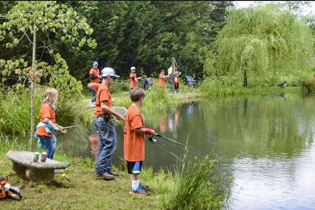 Trout Camp 2018 will take place the Saturday of Father's Day Weekend. The event, put on by Faith Outfitters, is designed to bring children with no fathers in their lives to the outdoors for a day of fishing and other activities, as well as a message of faith. Photo courtesy of Sunflower Media
