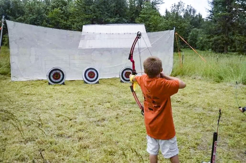Archery World will have instructors at Trout Camp to teach children how to shoot a bow. The camp also will feature fishing at a pond as well as and firearms safety instruction with BB guns. Photo courtesy of Sunflower Media