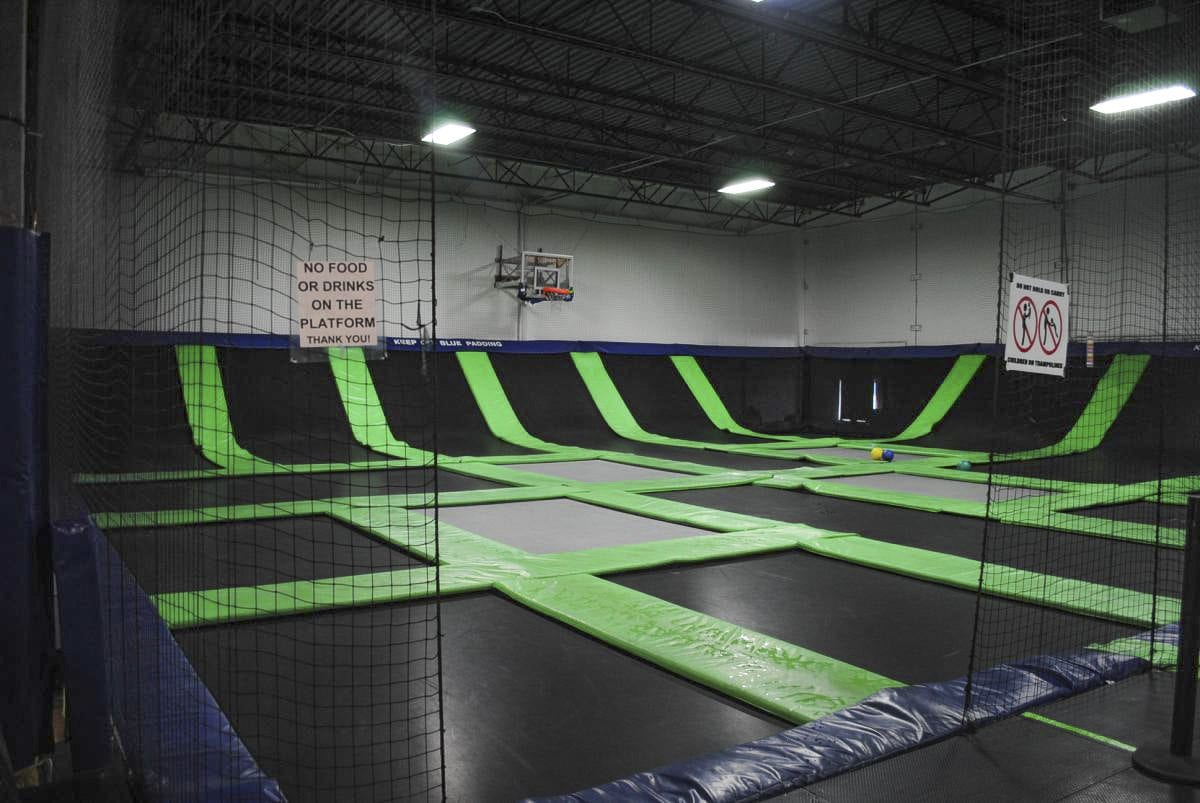 The Vancouver G6 Airpark features massive trampolines for children to play on. Photo courtesy g6airpark.com