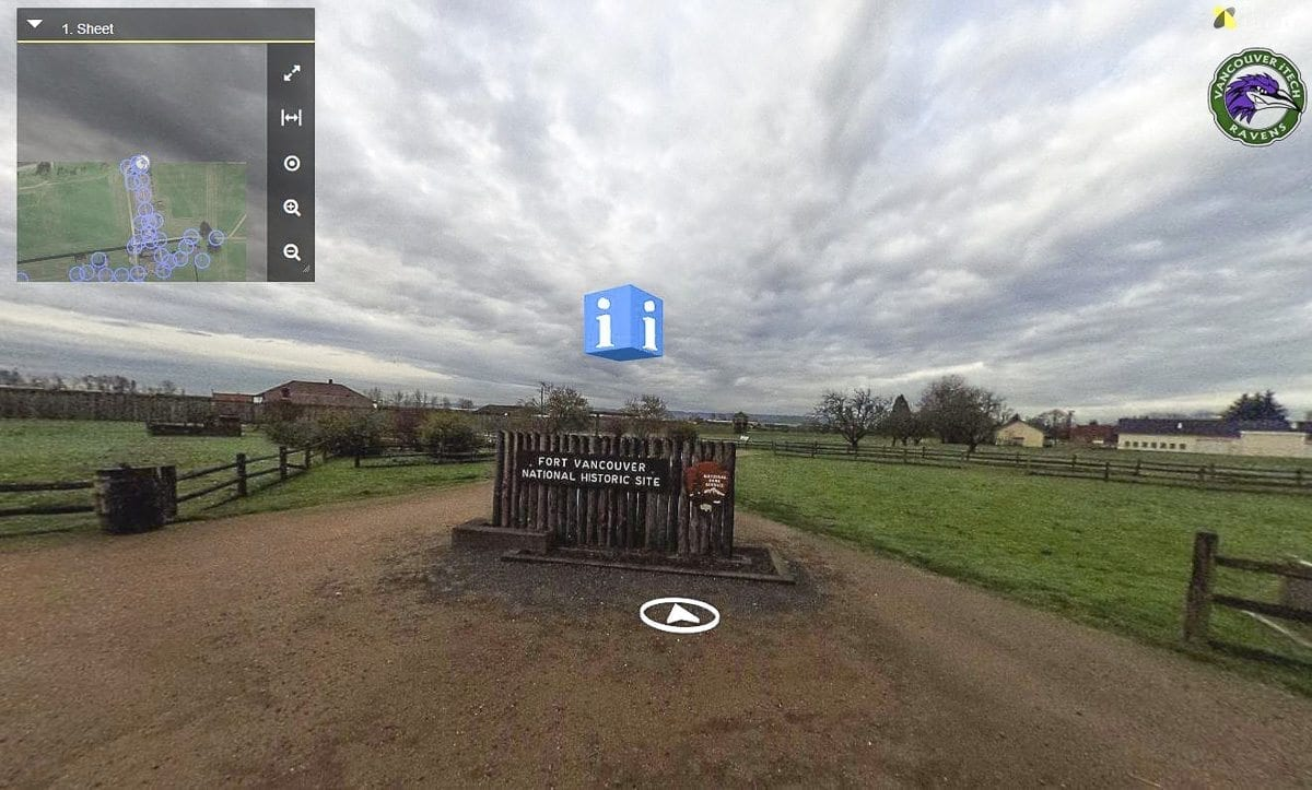 Vancouver iTech Preparatory students last partnered with the Fort Vancouver National Historic site to create a virtual tour of the grounds in 2016. Here's where to take the full tour: https://www.nps.gov/fova/learn/photosmultimedia/fortvancouvervirtualreality.htm. Image provided by the National Park Service