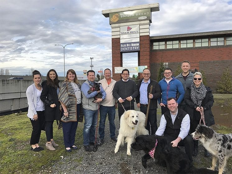 The WellHaven Pet Health corporate team poses for a photograph during a groundbreaking ceremony for one of its Vancouver facilities earlier this year. Photo courtesy of the Vancouver Business Journal