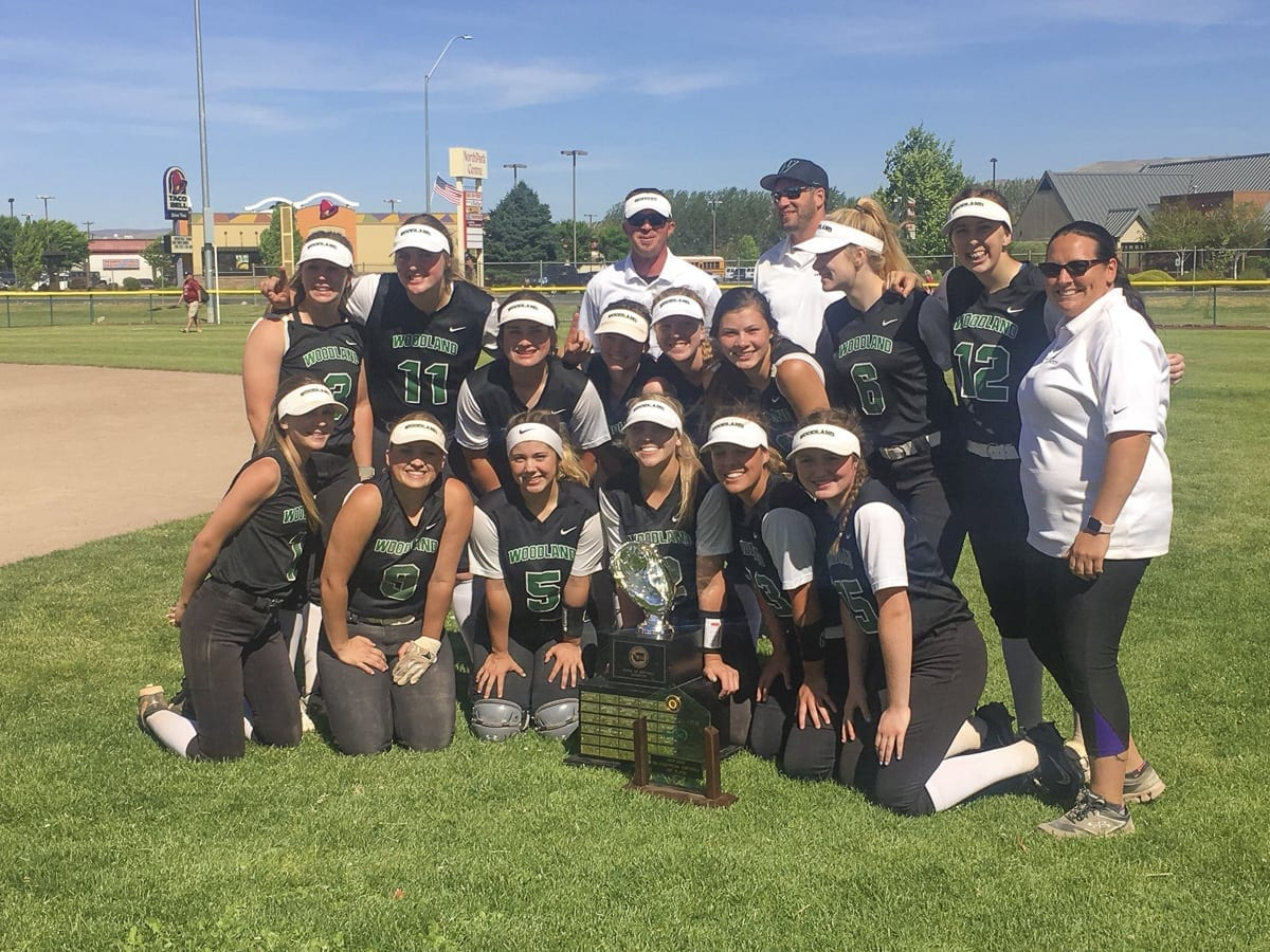 The Woodland Beavers rolled over the competition at the Class 2A state softball tournament this weekend, going 4-0 by a combined score of 33-5 to win the program's first championship. Woodland beat Ellensburg 5-1 in the finals, played in Selah. Photo courtesy Woodland Athletics.