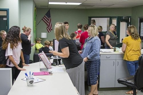 All visitors must check in with school offices with no exceptions. Photo courtesy of Woodland Public Schools