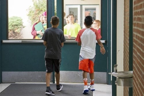 All schools practice regular safety drills to prepare for emergencies including evacuation, earthquake, Shelter-in-Place, and both internal and external lockdowns. Photo courtesy of Woodland Public Schools