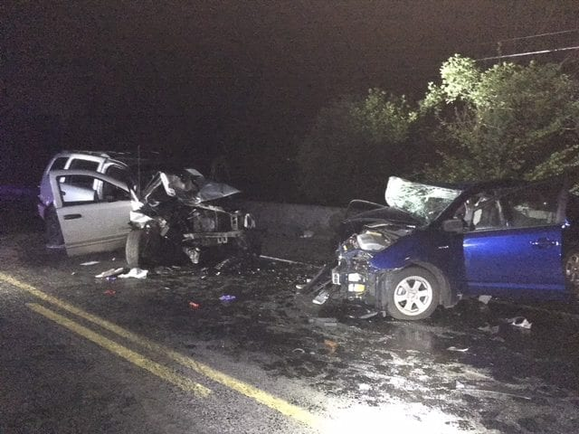 The Clark County Sheriff's Office provided photos after a crash on NE 72nd Avenue in Vancouver Monday night.