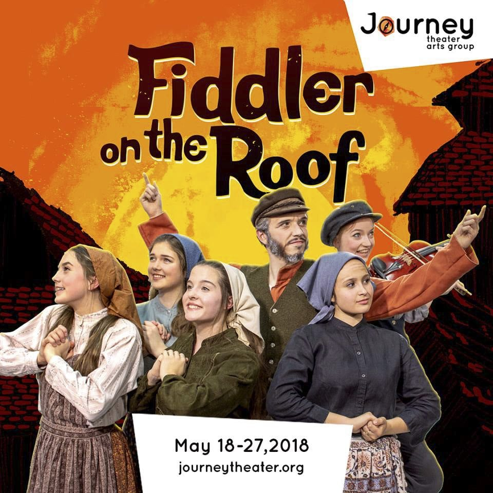 The classic musical Fiddler on the Roof tells the story of Tevye, a Russian Jew, and his five daughters, as they navigate a changing world while clinging to the traditions of their heritage. Photo courtesy of Journey Theater Arts Group