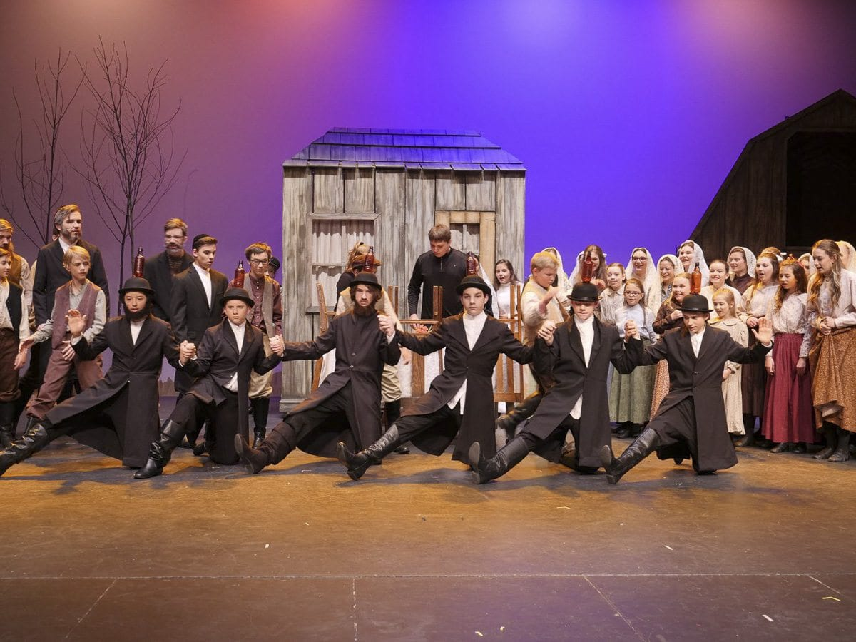 Fiddler on the Roof is performed by students age 8 through 18, who began rehearsing for this production seven weeks ago. Photo courtesy of Journey Theater Arts Group