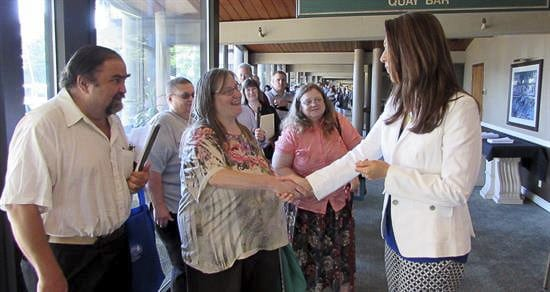 Congresswoman Jaime Herrera Beutler greets attendees at a previous Jobs Fair in Vancouver. Photo provided by the office of U.S. Rep. Jaime Herrera Beutler