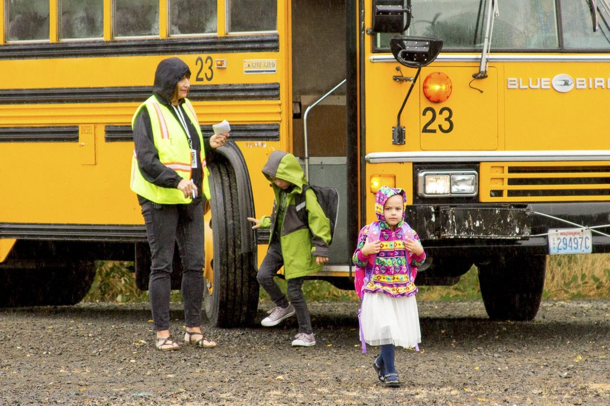 KWRL transports more than 9,000 students each day and has driven more than 16 million miles without an at-fault accident. Photo courtesy of Woodland School District