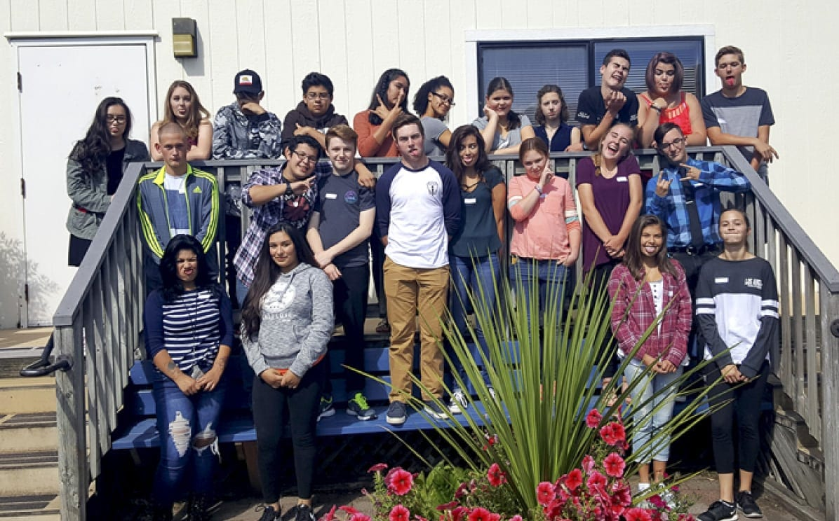 Members of Strong Teens Against Substance Hazards (STASHA) are seen in this photograph included with information about the program on the county's website at www.clark.wa.gov/community-services/stasha-peer-education-program.