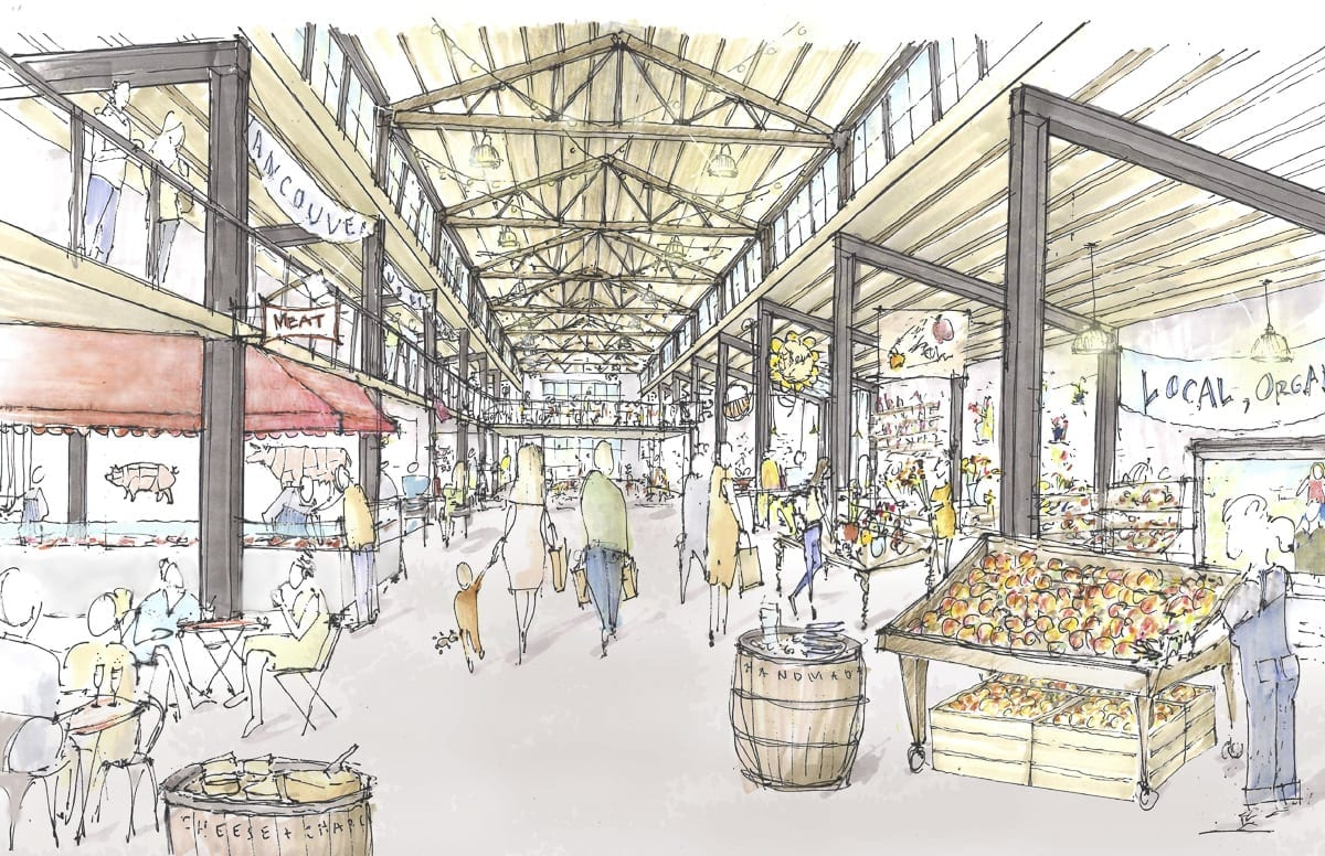 This rendering shows what the inside of the Public Market at Terminal 1 might look like. Photo courtesy Graham Baba Architects