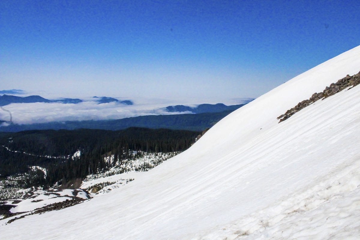 The steep slopes of Mount St. Helens. Photo by Eric Schwartz