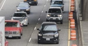 Rush hour traffic on I-5 in Portland. Photo by Mike Schultz