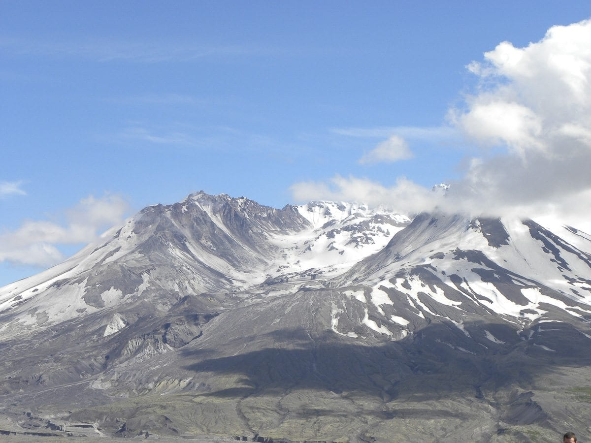 Mount St. Helens. Photograph provided by NOAA