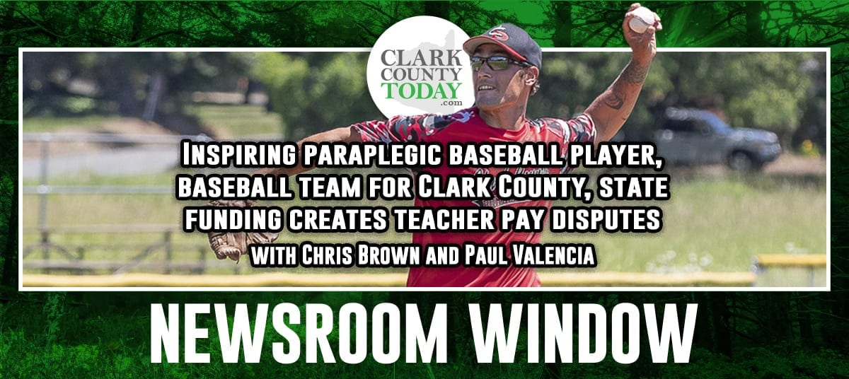 "Chris Brown and sports reporter Paul Valencia talk about the inspiring story of Anthony ""Tony"" Davis, who wasn't supposed to walk again, let alone play baseball. They also talk about Clark County getting a West Coast League wood bat baseball team, and brewing disputes over teacher salary across the county in the wake of the state's mandatory education funding decision."